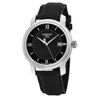 Tissot Men's T097.410.16.058.00 'Bridgeport' Black Dial Black Leather Strap Swiss Quartz Watch