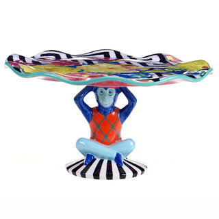 Tracy Porter for Poetic Wanderlust 'Reverie' 3-D Monkey Base Cake Stand