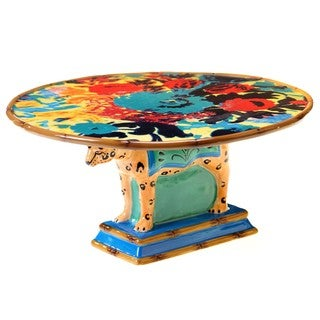 Tracy Porter for Poetic Wanderlust 'Magpie' 12-inch 3-D Leopard Cake Stand