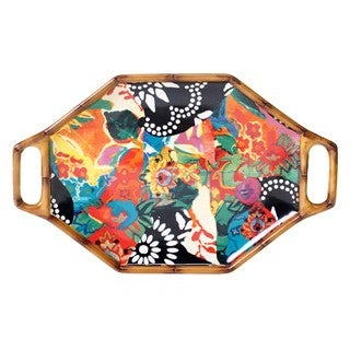 Tracy Porter for Poetic Wanderlust 'Magpie' 15.25-inch Oval Handled Platter