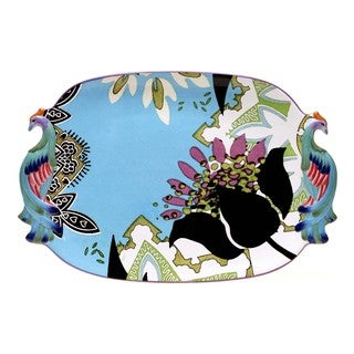 Tracy Porter for Poetic Wanderlust 'Rose Boheme' 18-inch Oval Handled Tray