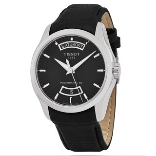 Tissot Men's T035.407.16.051.02 'Couturier' Black Dial Black Leather Strap Powermatic 80 Swiss Automatic Watch