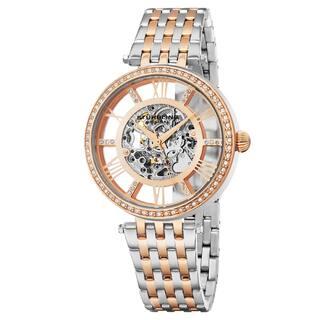 Stuhrling Original Women's Automatic Skeleton Delphi Swarovski Element Crystal Two-Tone Link Bracelet Watch|https://ak1.ostkcdn.com/images/products/14310319/P20892081.jpg?impolicy=medium