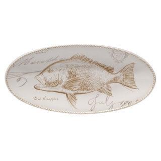 Certified International 15.25-inch Coastal Discoveries' Fish Platter