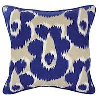 Kosas Home Sabrina Blue Throw Pillow 18-inch