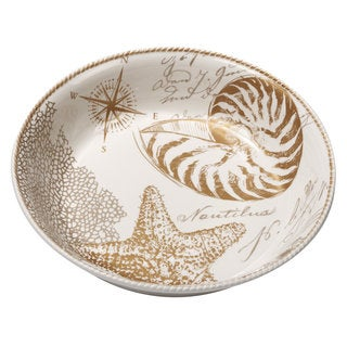 Certified International Coastal Discoveries Ceramic 13.25-inch x 3-inch Pasta/Serving Bowl