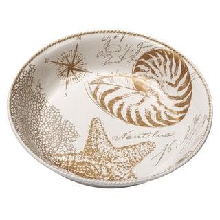 Certified International Coastal Discoveries Ceramic 13.25-inch x 3-inch Pasta/Serving Bowl