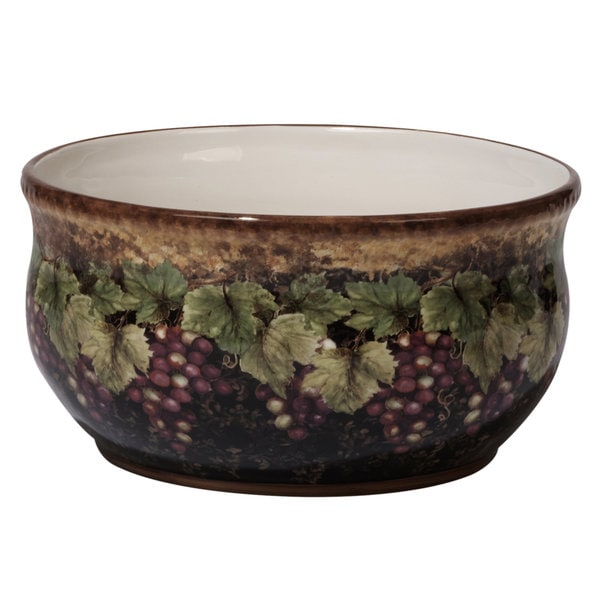 Certified International Susan Winget Gilded Wine Ceramic 10 x 5 Deep Bowl  sc 1 st  Overstock & Shop Certified International Susan Winget Gilded Wine Ceramic 10 x 5 ...