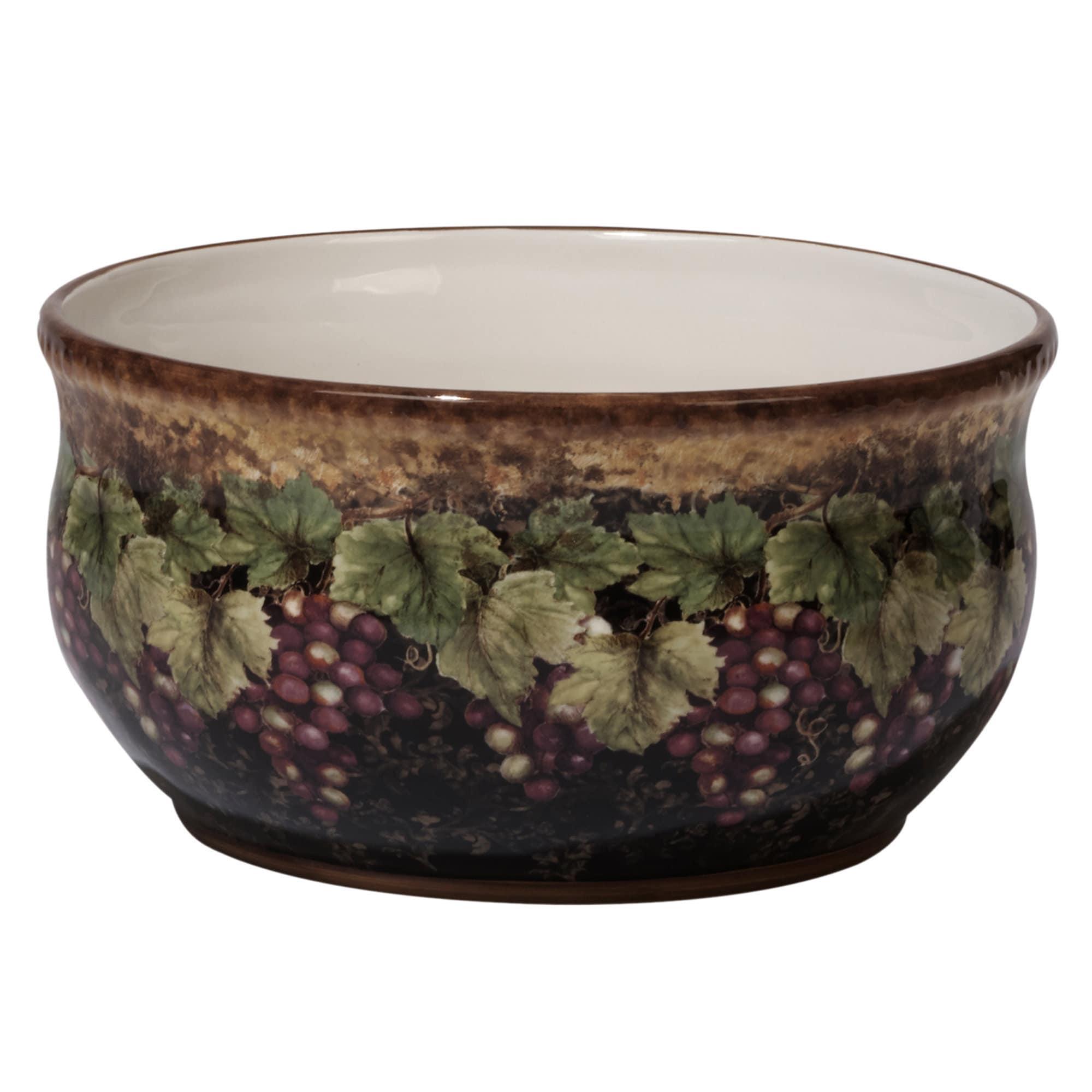 Certified Intl Susan Winget Gilded Wine Ceramic 10 x 5 De...