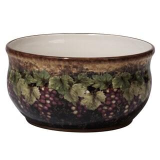 Certified International Susan Winget Gilded Wine Ceramic 10 x 5 Deep Bowl