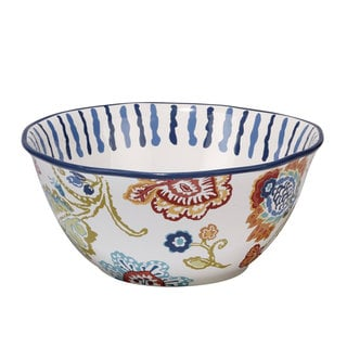 Certified International San Marino White Ceramic 11-inch x 4.75-inch Hand-painted Bowl