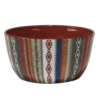 Certified International Monterrey Multicolored Ceramic 11-inch x 5.5-inch Deep Bowl