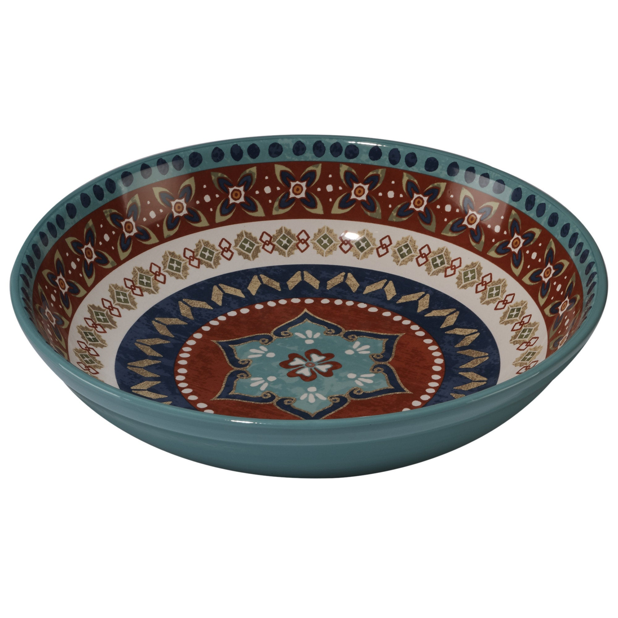 Certified International Veronique Charron Monterrey Ceramic 13 25 X 3 Inch Pasta Serving Bowl Overstock 14310371