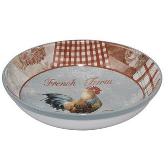Certified International Farm House Red, White, and Blue Ceramic 13.25-inch x 3-inch Serving/Pasta Bowl
