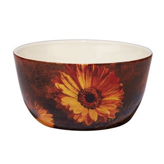 Certified International Gerber Daisy Ceramic 11 x 5.5 Deep Serving Bowl