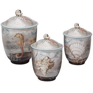 Certified International Coastal View 3-piece Canister Set