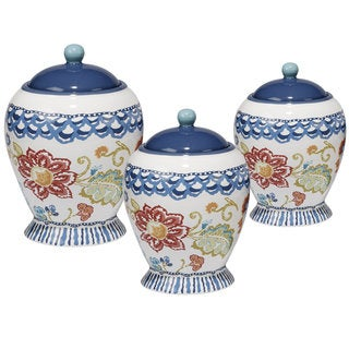 Certified International San Marino Multicolor Ceramic Canister Set (Pack of 3)