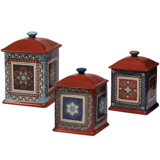 Certified International Monterrey Three-piece Canister Set