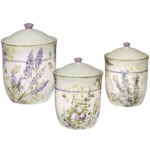 287d9f467ac1 Shop Certified International Herbes de Provence Ceramic Canisters (Pack of  3) - Free Shipping Today - Overstock - 14310387