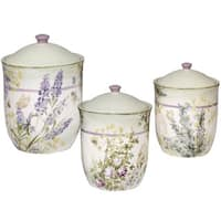 Certified International Herbes de Provence Ceramic Canisters (Pack of 3)