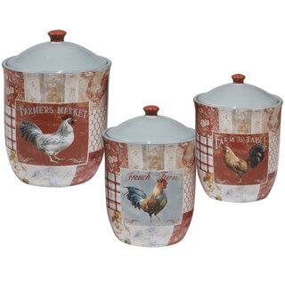 Certified International Farm House Ceramic Canisters (Pack of 3)|https://ak1.ostkcdn.com/images/products/14310388/P20892170.jpg?impolicy=medium