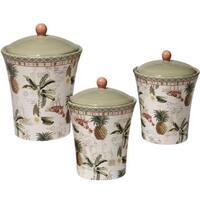 Certified International Floridian Ceramic 3-piece Canister Set