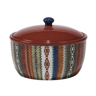 Certified International Monterrey Multicolored Ceramic 80-ounce Hand-painted Bean Pot
