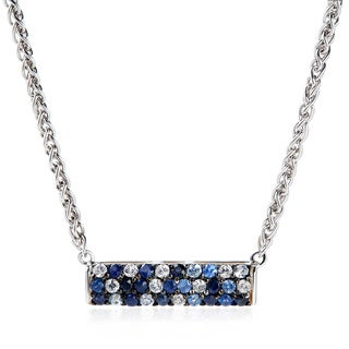 EFFY Final Call 925 Sterling Silver Sapphire Bar Necklace
