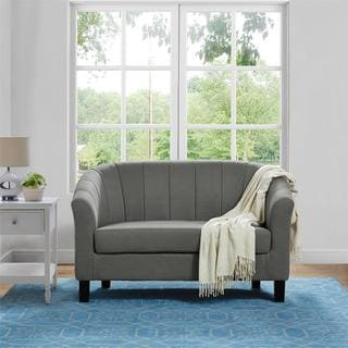 porch u0026 den belltown lenora grey loveseat