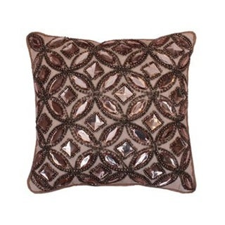 Thro by Marlo Lorenz Humus Gwyn Brown Gemstone Pillow