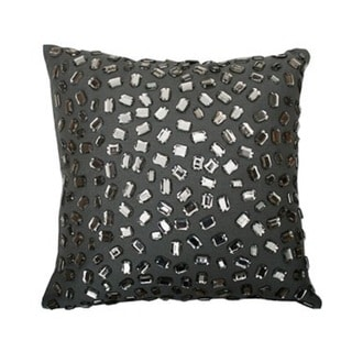 Thro by Marlo Lorenz Grey Cotton Gemstone Throw Pillow