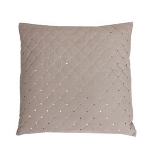 Thro by Marlo Josonia Payton Humus Gold Fabric Quilt with Sequins Throw Pillow