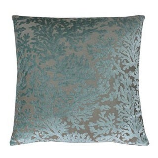Thro by Marlo Harbor Cara Coral Blue Polyester Feather-filled Throw Pillow