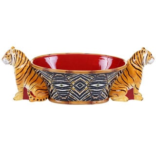Tracy Porter for Poetic Wanderlust 'Imperial Bengal' 3-D Bengal Center Piece Bowl