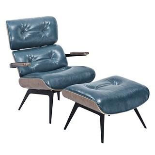 Eama Mid Century Modern Chair and Ottoman