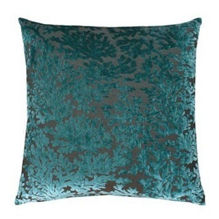 Thro by Marlo Cara Coral Baltic Blue Feather-filled Throw Pillow