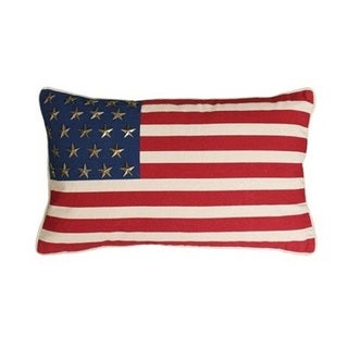 Thro by Marlo Multi 'GEORGE' American Flag with Studs Feather-filled Throw Pillow