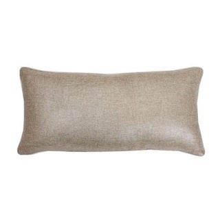 Thro by Marlo Natural Silver with Foil Contrast Back Faux Linen Throw Pillow