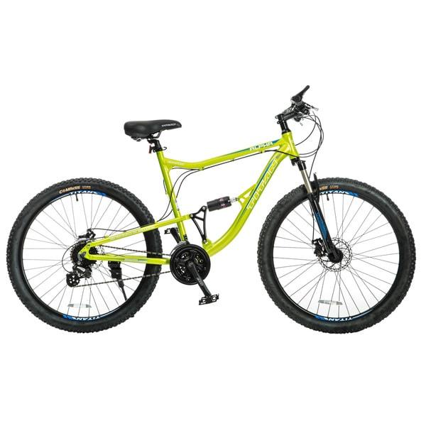 Titan Alpha Lime Green Alloy-Frame Front-suspension 21.5-inch Frame 24-speeds Mountain Bike
