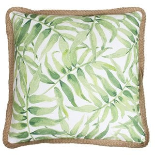 Thro by Marlo Abbie Multicolored Watercolor Printed Tropical Leaf Pillow
