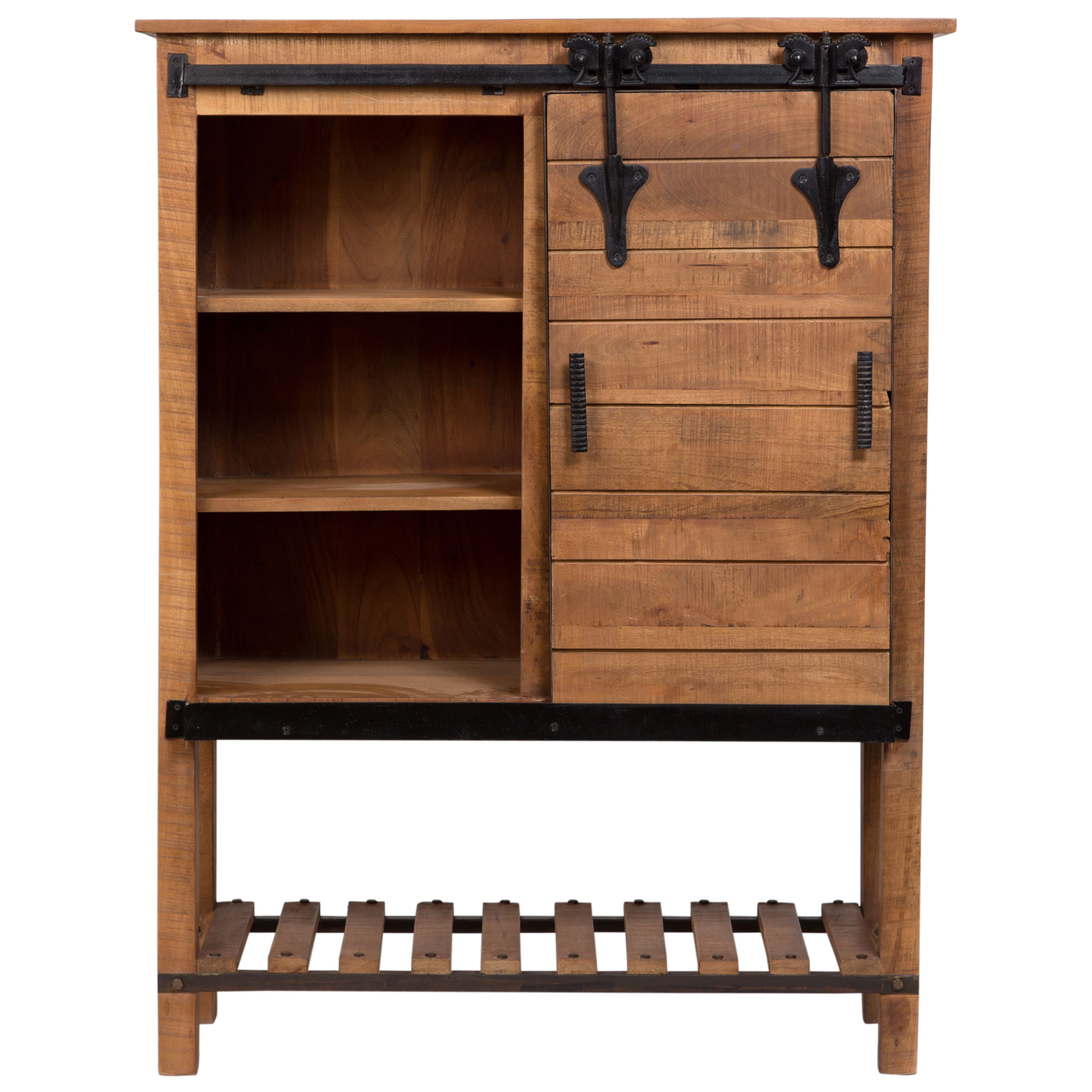 Sliding Barn Door Console Cabinet: Accent Cabinets With Sliding Doors