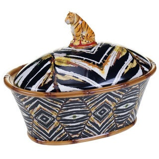 Tracy Porter For Poetic Wanderlust 'Imperial Bengal' 11-inch 3-D Covered Bowl