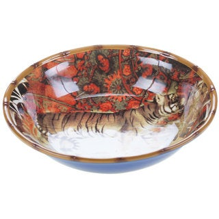 Tracy Porter for Poetic Wanderlust 'Imperial Bengal' Stoneware 13-inch Pasta/ Serving Bowl