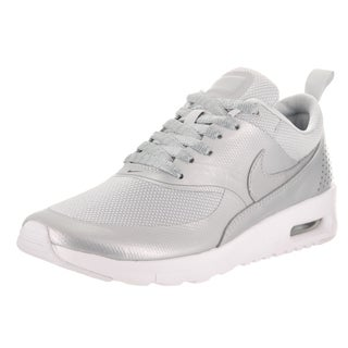 Nike Kids' Air Max Thea SE (GS) Platinum Textile, Synthetic, and Leather Running Shoes