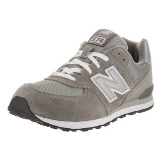 New Balance Boys' 574 Classics Grey Suede Running Shoe