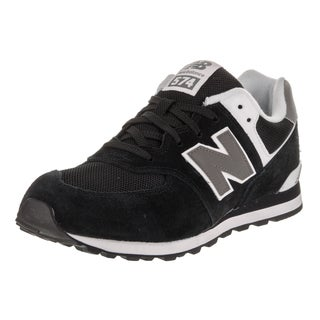 New Balance Boys' 574 Classics Black Suede Running Shoes