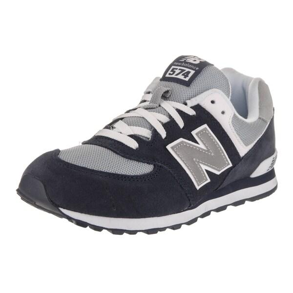 ec1fafc16d75 Shop New Balance Boys  574 Classics Navy Suede Running Shoe - Free ...