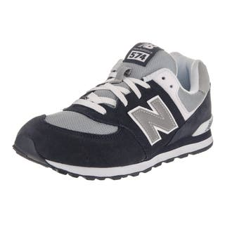 New Balance Boys' 574 Classics Navy Suede Running Shoe (Option: 5.5)|https://ak1.ostkcdn.com/images/products/14310843/P20892562.jpg?impolicy=medium