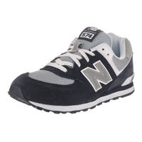 New Balance Boys' 574 Classics Navy Suede Running Shoe
