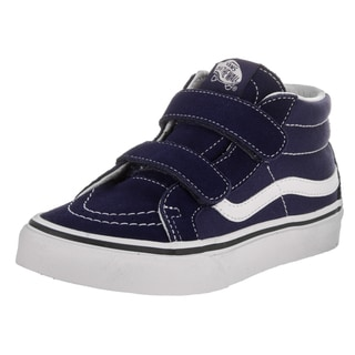 Vans Boys' Sk8-Mid Reissue V Blue Canvas Skate Shoe